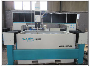 Wamit WMT1525-AL new water jet cutting machine with CE 60000psi pump, can do 220V,380V,415V