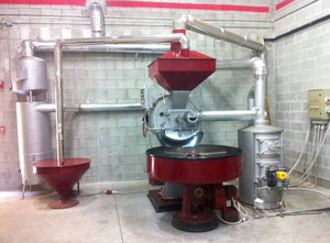 Coffee roaster line machinery brand Vittoria 66 lbs/cycle