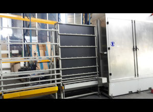 POLYGLAS LV2001R Glass washing / coating and printing machine