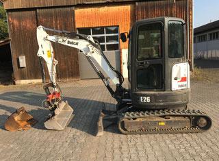 Bobcat E26 мини экскаватор на цепях