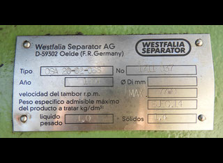 Westfalia Separator OSA-20-02-066 P81002093
