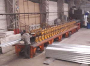 Turkish roll form steel planking machine