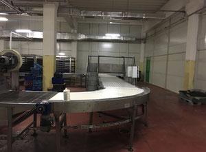 Línea completa de producción de croissant, galletas Tri̇vi̇-Termopan-Nokta-Arcan-Kuruman