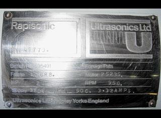 Ultrasnics Ltd Shipley Yorks Engrand. RAPISONIC P81106119