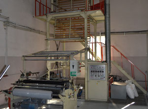 Vytlačovací linka Ruian Hongqi Plastic Packing Machinery Co., Ltd. SJ-80-FM1500  ROTARY HEAD FILM BLOWING MACHINE