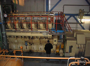 BHKW Marbach 12 VDG Generator – Power Plant - Complete Power Plant