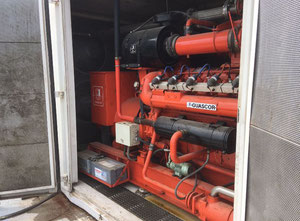 725 kW Containerized Gas Power Plant Guascor FGLD 480 (GAS64618)