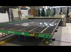 Bottero 352 BCS  tilting glass cutting table & 530AVL 46 layered glass cutting table