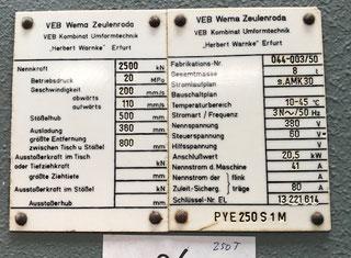 Wmw - Zeulenroda PYE 250 S1M P90221153