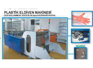 Turkish Gloves Making Machine Plastic machine