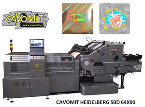 CAVOMIT HEIDELBERG SBD 64X90 TWO FOIL PULLS HOT STAMPING & HOLOGRAM REGISTRATION MACHINE (NEW MODEL 2019) (MANUFACTURED UPON REQUEST)