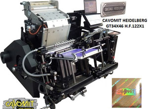 CAVOMIT HEIDELBERG GT 34X46 ONE FOIL PULLS HOT STAMPING & HOLOGRAM REGISTRATION MACHINE (NEW MODEL 2020) (MANUFACTURED_UPON_REQUEST)