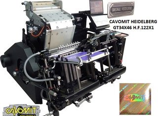 Cavomit Hot Stamping & Hologram Registration Machines NEW MODEL 2020 P90311010