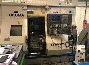 Okuma LT-10MY with C and Y Axes Double Turret Sub Spindle CNC Lathe + Robot System + Bar Feeder + Tools