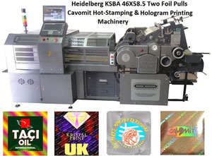 CAVOMIT HEIDELBERG KSBA 46X58,5 TWO FOIL PULLS HOT STAMPING & HOLOGRAM REGISTRATION MACHINE (NEW MODEL 2019) (MANUFACTURED UPON REQUEST)