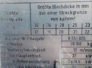 Veb Blema Gotha Ubr 20x1600/1-10 Richtmaschine