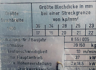 Veb Blema Gotha Ubr 20x1600/1-10 P90315119