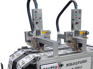 CAVOMIT HOLO@FLEXO K-300X2 TWO FOIL PULLS HEADS HOT STAMPING & HOLOGRAM REGISTRATION MACHINE (MODEL 2019) (MANUFACTURED UPON REQUEST)