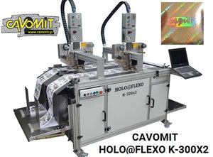 CAVOMIT HOLO@FLEXO K-300X2 TWO FOIL PULLS HEADS HOT STAMPING & HOLOGRAM REGISTRATION MACHINE (NEW MODEL 2020) (MANUFACTURED_UPON_REQUEST)