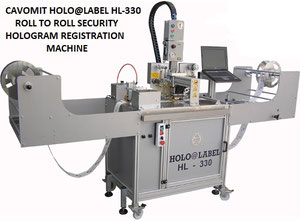 CAVOMIT HOLO@LABEL HL-330 ROLL TO ROLL SECURITY HOLOGRAM REGISTRATION MACHINE (MANUFACTURED UPON REQUEST)