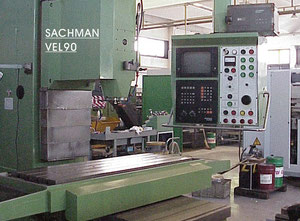 Used Sachman VEL 90 cnc vertical milling machine