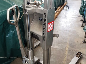 SCHNEIDER  Mod. ROBUSTO FL 350 - Sanitary pallet truck for drum lifting and tilting used