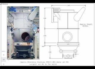 Hosokawa MAF556 Hosokawa Alpine 1500 AFG Jet Mill P90521097