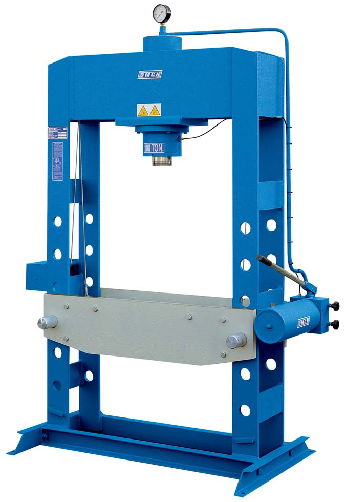 OMCN brand Hydraulic Press , Hand Operated Cap 100 Tons, Made in Italy -  Exapro