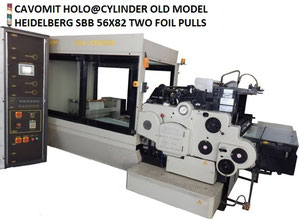 CAVOMIT HEIDELBERG SBB 56X82 HOLO@CYLINDER FOUR FOIL PULLS HOT STAMPING MACHINE (AVAILABLE IMMEDIATELY)
