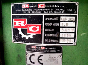 Reni Cirillo as/rc230 Washing finishing machine