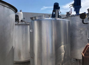 Tank with agitator in stainless steel of 1,500 liters