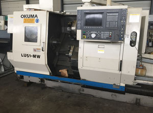 Used Okuma LU 15 MW CNC Lathe 4th Axis with driven tools and sub spindle
