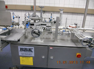 BBK fully automatic self-adhesive labelling machine for cylindrical containers