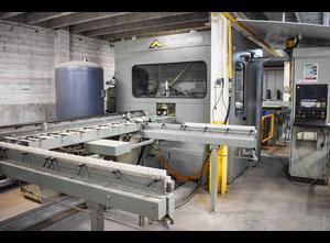 Línea automática de 24 m centro de mecanizado y corte para aluminio 6 ejes CNC Emmegi QUADRA
