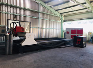 Baykal BPL-H 1506 Hpr260XD flame and plasma cutting machine only 40 hours of operation