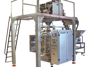 VERTICAL 4 SCALE WEIGHING and  PACKING MACHINE with CONVEYOR FEEDING UNIT