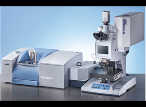 BRUKER infra-red microscope HYPERION 2000 with its TENSOR 27 spectometer