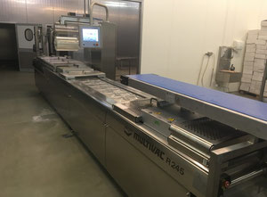 Marel, Carnitech, Baader, Fomaco Salmon processing line Skinning