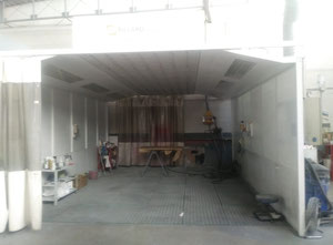 Zona de lijado con dos frupos IMPULSION EXTRACCION Pillard ZP-E7