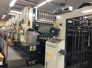 Offset 5 kolorow Komori Lithrone 540+ coater + IR dryer
