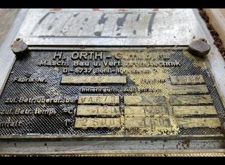 Orth VACUUM ROTARY BICONE DRYER 2500 LITRES P00512092
