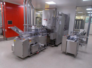 Bosch/ B+S vial line, fully automatic for washing, drying/sterilising, filling & closing of vials