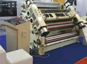 SINGLE FACER CORRUGATION FINGERLESS PNEUMATIC MACHINE WITH SHAFTLESS REEL STAND
