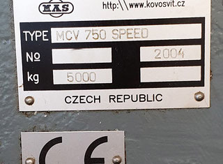 Kovosvit Mas MCV 750 SPEED P00716033
