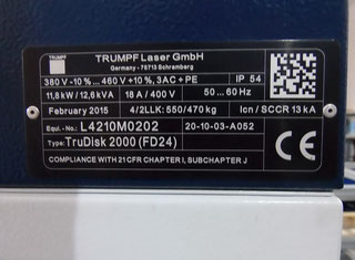 Trumpf TruDisk 2000 P00716149