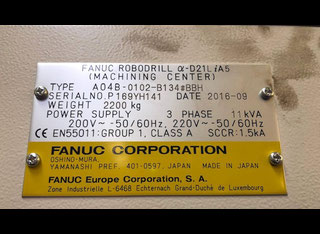Fanuc ROBODRILL ALPHA D21LIA5 P00803073