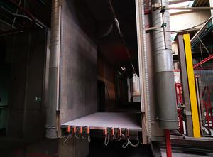 Automatic powder coating plant MAN Spray booth