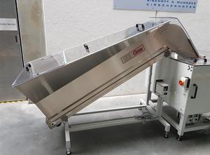 Grimm Zuführtechnik BBR 350 B, LFL 650, RF52L, PMA 30 Abfüllmaschine - Abfüllanlage