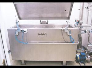 Système de contrôle d'ampoules (verre brisé, etc.), récipient de bain bleu MAVAG 1998
