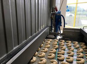 Línea completa de producción de croissant, galletas Hefele, Diosna, Sasib, Tromp, Heinen Croissant line